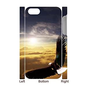 Cool Painting Bald Eagle Custom 3D Cover Case for Iphone 4,4S,diy phone case case579633