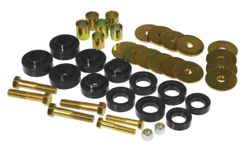 Prothane 7-139-BL Black Body Mount Kit with Hardware (Camaro 1969 Body)
