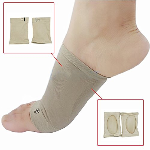 Denshine Arch Sleeves Plantar Fasciitis Arch Sleeves Support Brace Orthotic, 1 Pair for Pain Relief, Heel Spurs and Flat Feet orrects Pain in Feet, Knees, Back and Hips