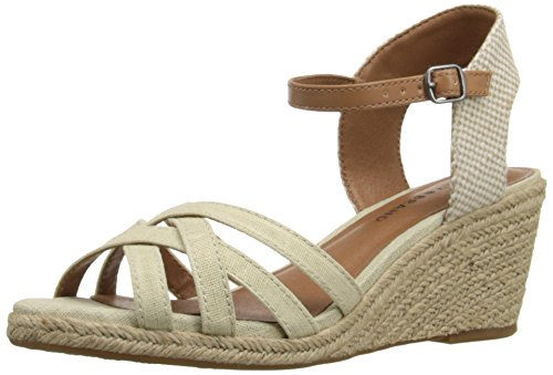Boho-Chic Vacation & Fall Looks - Standard & Plus Size Styless - Lucky Women's Kalley Espadrille Wedge Sandal, Natural Combo, 10 M US