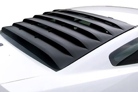 Mustang Louver (MRT 12A044 2005-2014 Mustang Powder Coated Aluminum Rear Window)