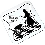 Alice in Wonderland Drink Me High Gloss Square Wooden Coaster by The Supreme Gift Company