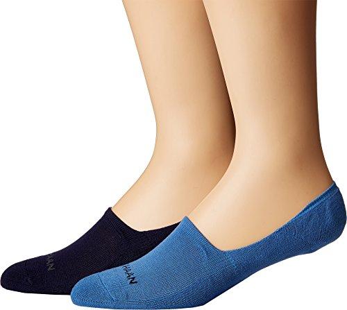 Cole Haan Mens 2-Pack Casual Cushion Liner Riverside Blue Men's Shoe 7-12 (Men's Sock 10-13) One Size