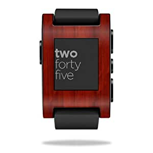 Mightyskins Protective Vinyl Skin Decal Cover for Pebble Smart Watch wrap sticker skins Cherry Wood