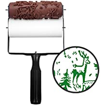 Rolling Robin Patterned Paint Roller Kit. Stencil For Creating Paint Patterns, Murals & Borders. Ideal Alternative To Wallpaper, Wall Decals & Stickers. Decorative Designs For Furniture, Nursery, etc
