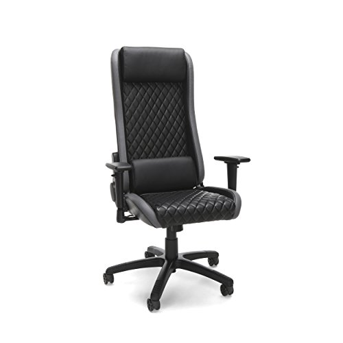 RESPAWN-115 Racing Style Gaming Chair - Reclining Ergonomic Leather Chair, Office or Gaming Chair (RSP-115-GRY) OFM Education