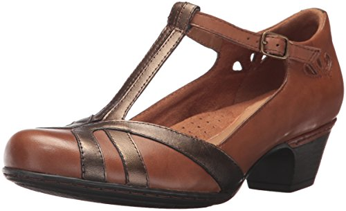 Cobb Hill Rockport Femmes Angelina Robe Pompe Tan Multi