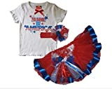 Southern Wrag Co 4th of July RED Tutu Set Little Girls MADE in AMERICA Design (4)