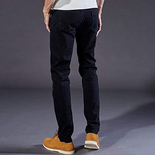 Hx Fashion E Taglie Nero Fit Uomo Pantaloni Slim Jeans Casual Regular Comode Da Vintage Stretch Abiti wrHqafwx4