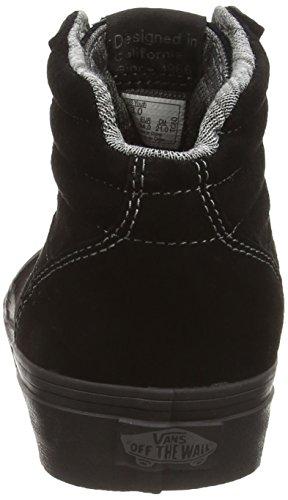 Black Milton Enfant Mixte Schwarz MTE Noir Black Montantes Mte Hi Vans 7xd6vPP