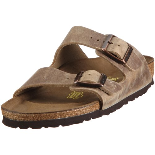 BIRKENSTOCK Arizona Womens Tabacco Brown Leather Mules 42 EU (9-9.5 R US Men/11-11.5 R US Women)