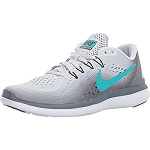 NIKE New Women's Flex 2017 RN Running Shoe Platinum/Jade 7.5