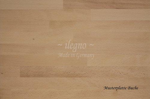 Großartig ilegno ~ Tischplatte Buche massiv Holz, 200 x 100 cm, 40 mm stark  QR69