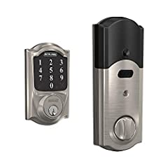 Add the Schlage connect smart deadbolt to your ZigBee smart home system to control and monitor your lock from anywhere. Never Wonder if you left the door unlocked again – just open your smart home systems mobile or web app to lock it remotely...