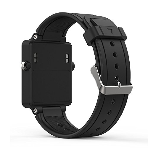 Band for Garmin Vivoactive, Soft Silicone Wristband Replacement Watch Band for Garmin Vivoactive Sports GPS Smart Watch (Black)