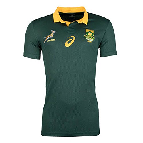 South Africa Springboks Fan Rugby Shirt 2017 - Bottle Green (Rugby South Springboks Africa)