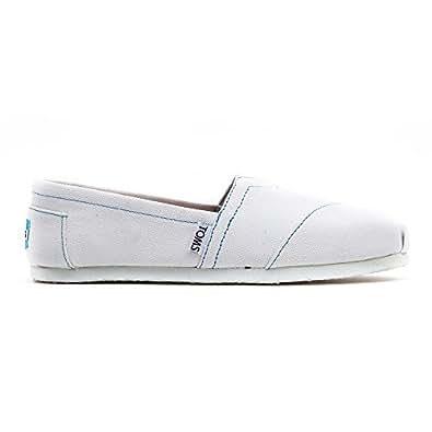 TOMS Women's Classics Shoe White Canvas Size 5 B(M) US