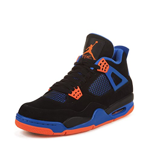 80b45bfb4ebf78 Galleon - Nike Air Jordan Men s 4 Retro Basketball Shoe Black Safety  Orange Game Royal Size 10.5