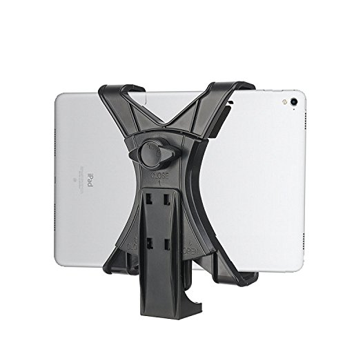 Bonfoto Tablet Mount Adaptor for Tripod and Selfie Stick Universal Flexible Holder for iPad (Mini/Pro/Air), Samsung Galaxy