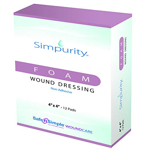 Simpurity Foam Wound Dressing Non-Adhesive, 4