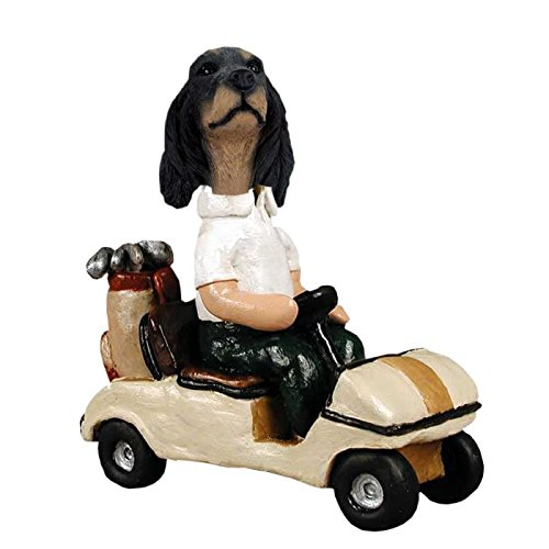 Gordon Setter Golf Cart Doogie Collectible Figurine