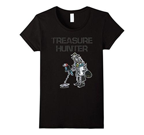 Womens Metal Detector Treasure Hunter Pirate Detectorist Tee XL - Treasure Pirate Hunter