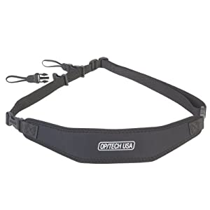 OP/TECH USA Utility Strap-Sling - Padded Neoprene Camera Sling with Quick Disconnects and Control-Stretch System (Black)