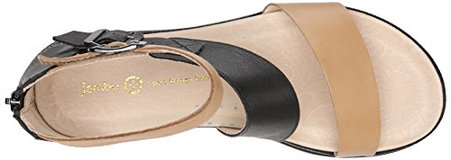 Jambu Womens Cape May Wedge Sandal Nude/Black nXzJHwKmIB