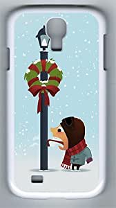 Samsung Galaxy S4 Case and Cover- Funny Winter Holidays PC Hard Case for Samsung Galaxy S4 / SIV/ I9500 White