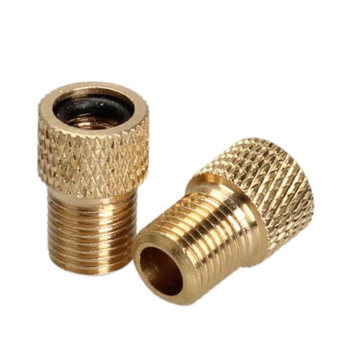 Yosoo mtb bike bicycle brass adaptor presta schrader pump