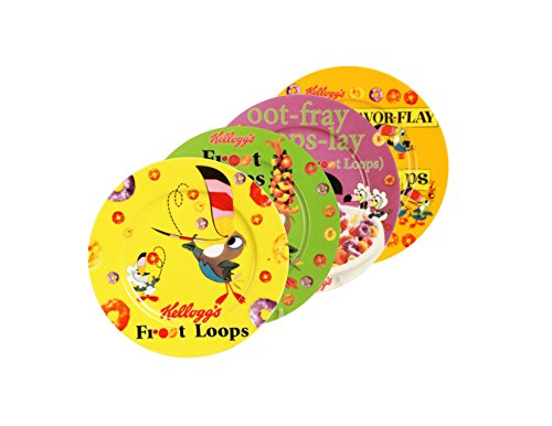 (Kellogg's Froot Loops Toast Plate (Set of 4), Multi)