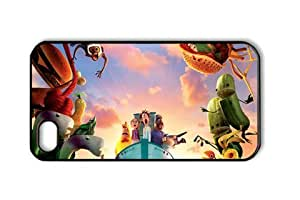 Cloudy with a Chance of Meatballs 002 Iphone 4/4S Black Sides Hard Shell Case by eeMuse