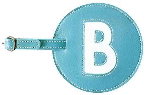 Luggage Tag Initials Pb Travel (Turquoise- B)