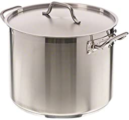 Update International (SPS-24) 24 Qt Induction Ready Stainless Steel Stock Pot w/Cover