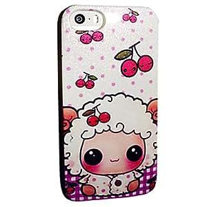 WQQ asunto suave polvo tpu patrón ovejas de dibujos animados de la cereza de destello para el iphone 5 / 5s