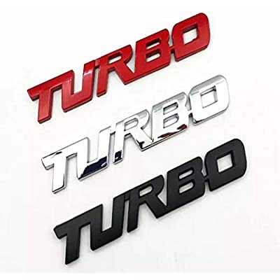 Turbo Door Trunk Window Emblem Fender Trim Kit 2 Piece Kit (CHROME): Automotive