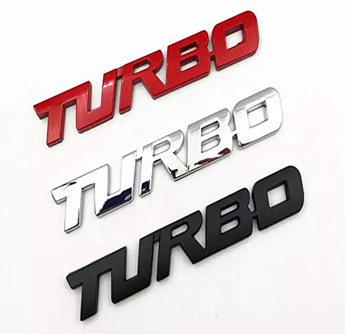 Turbo Door Trunk Window Emblem Fender Trim Kit 2 Piece Kit (BLACK) (06 Scion Tc Emblem)