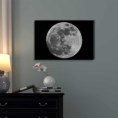 Full Moon Against Black Universe Space Wall Decor