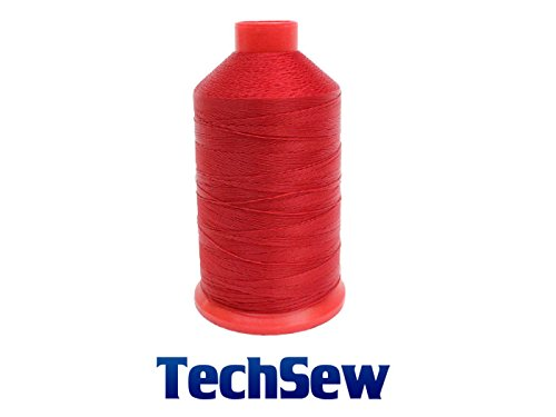 RED TechSew Premium Bonded Nylon Sewing Thread #138 T135 8oz Spool 1500 yards for Upholstery, Leather Goods, Purses, Bags, Shoes