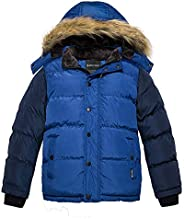 Wantdo Boy's Hooded Puffer Jacket Thick Coat with Reflective St
