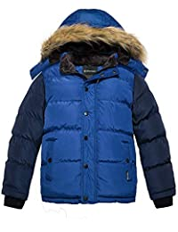 Wantdo Boy's Hooded Puffer Jacket Thick Coat with Reflective Stripe