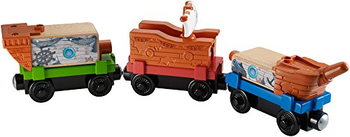 Fisher-Price Thomas the Train Wooden Railway Pirate Ship Delivery Train Set