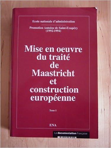 Télécharger en ligne Mise en oeuvre du traite de maastricht et construction europeenne : rapports de seminaires etablis p pdf ebook