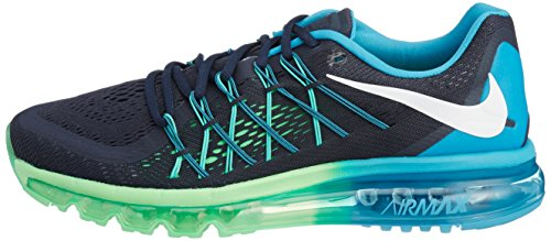 Nike Air Max 2015 Mænd Os 8,5 Sorte Løbesko Drk Obsdn / Hvid-bl Lgn-psn Grn