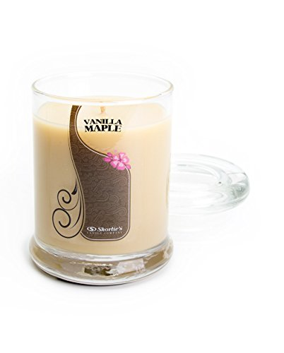 Vanilla Maple Candle - 6.5 Oz. Highly Scented Beige Jar Candle - Bakery Candles Collection -