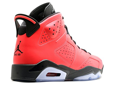 Nike Mens Luft Jordan 6 Retro Läder Basket Skor Infraröd 23-svart
