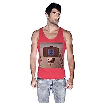 Creo Bag On Beach Tank Top For Men - S, Pink
