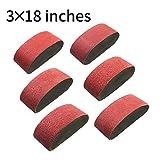 Belt Sander 20PCS 3x18 Sanding Belt Sanding Belts Belt Sander Paper (3 Each of 60, 80, 120,150,240,400 Grits, 2 of 40 Grits) Aluminum Oxide SATC