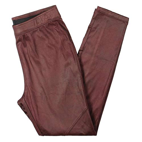 Free People Womens Slim Fit Faux Leather Leggings Red 28