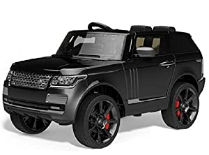 duplay range rover sport autobiography style kids electric 12v jeep ride on car matt black